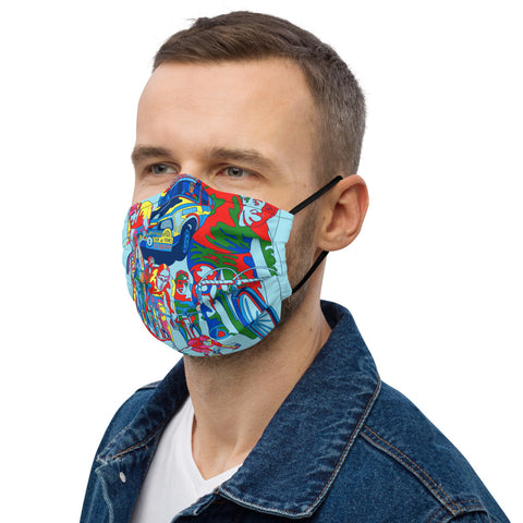 TdF in Technicolor Face Mask