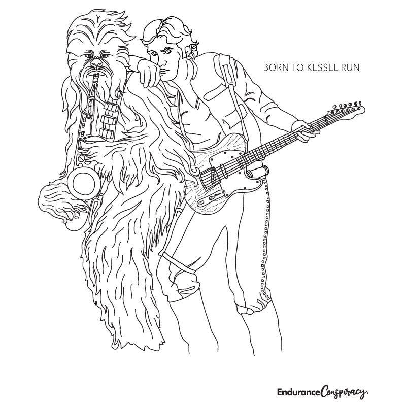 Born to Kessel Run Coloring Project - EC17