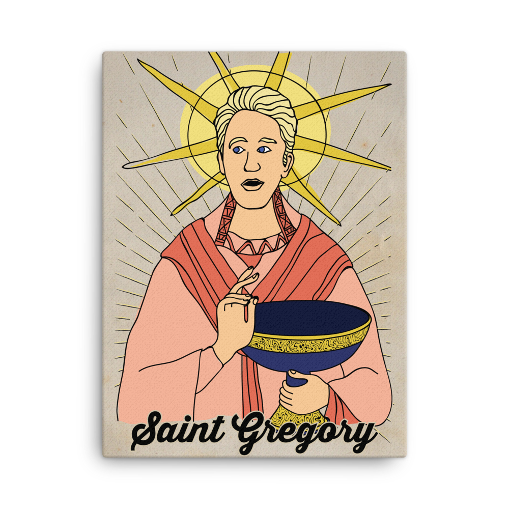 Saint Gregory Canvas Print - EC17