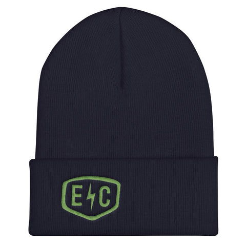 EC Badge Beanie in Navy - EC17