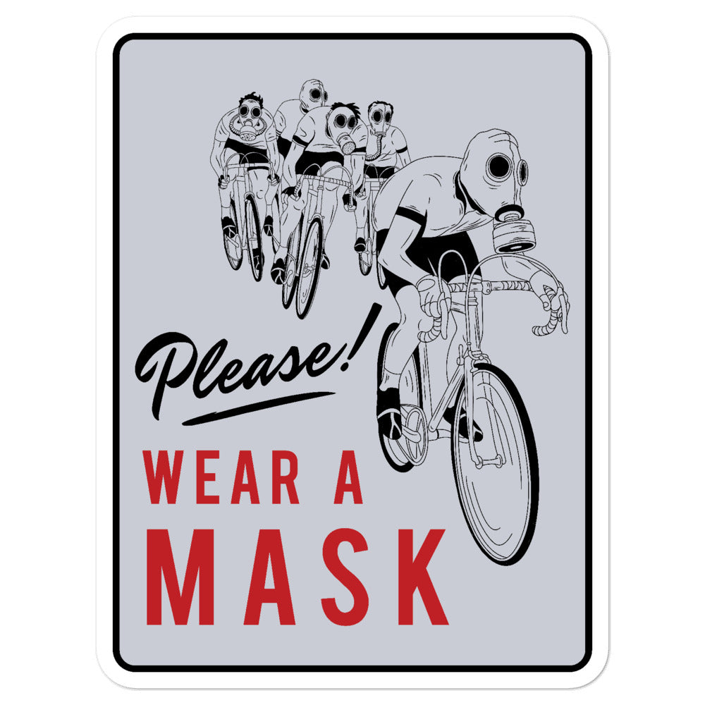 Please Wear a Mask Sticker