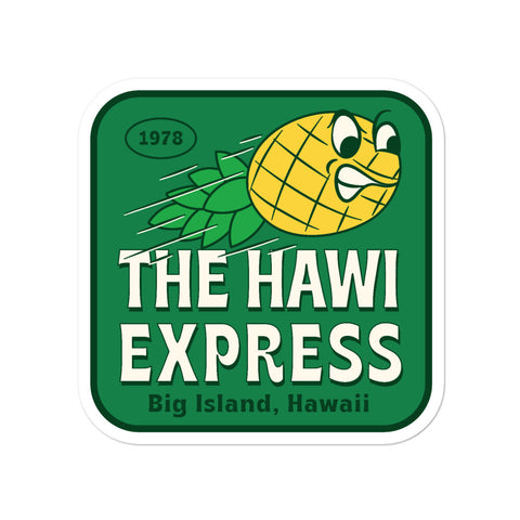 The Hawi Express Sticker