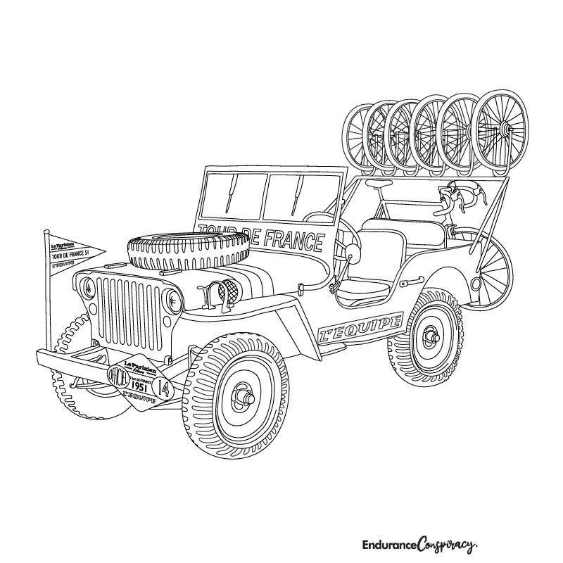 TdF Jeep Coloring Project - EC17