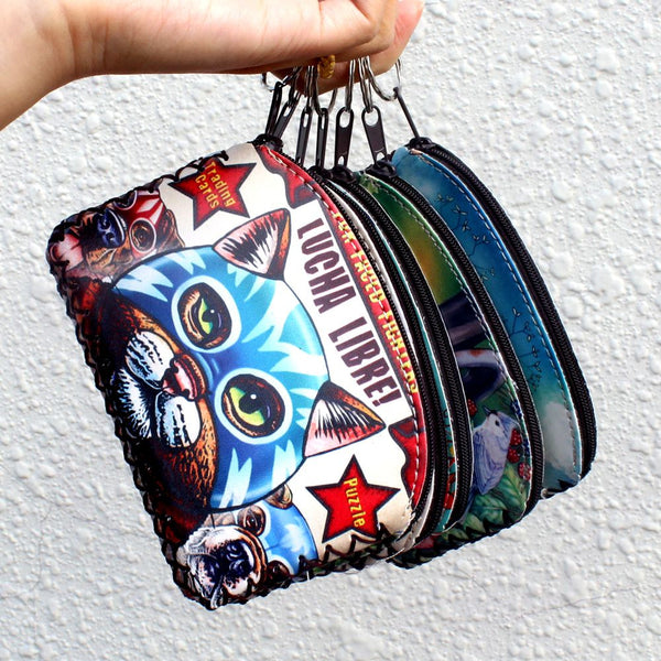 Graffiti Cat Coin Purse