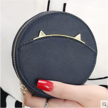Round Cat Ears Coin Purse