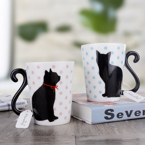 Cat Tail Mug Set