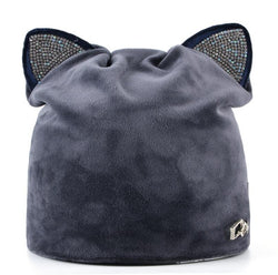 Velvet Cat Ear Beanie