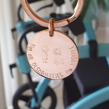 Load image into Gallery viewer, Handstamped Circle Keyring