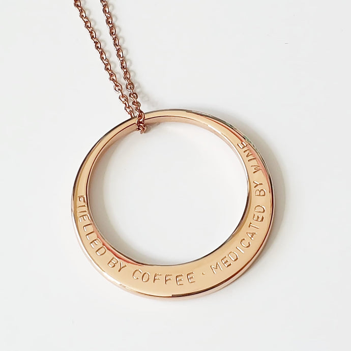 Handstamped large circle necklace | allure style