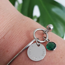 Load image into Gallery viewer, Handstamped Loop Bracelet