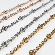 Load image into Gallery viewer, Beaded Cable Chain Necklace (chain only)