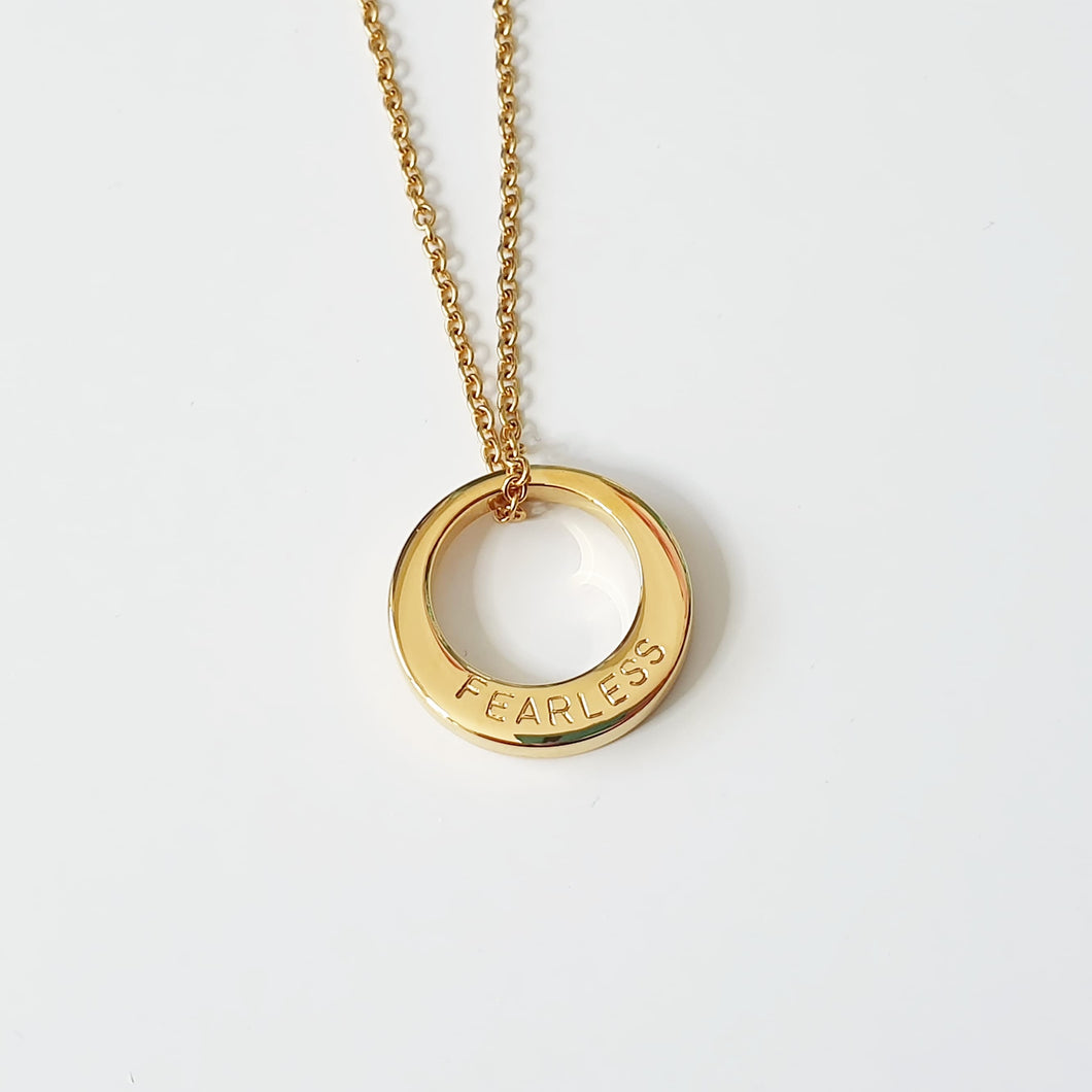 Handstamped Small Circle Necklace