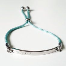 Load image into Gallery viewer, Handstamped Corded Bolo Bracelet (adult size)