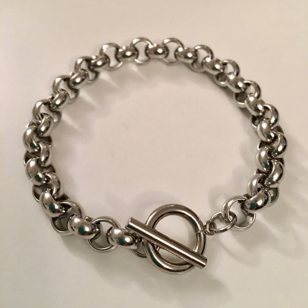 Belcher/rolo toggle bracelet (stainless steel)