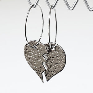 Get Hammered Heartbreaker earrings (clearance sale)