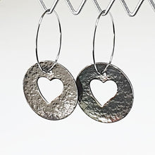 Load image into Gallery viewer, Get Hammered Circle of Love earrings (limited edition)