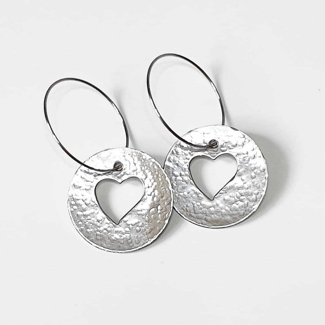Get Hammered Circle of Love earrings (limited edition)