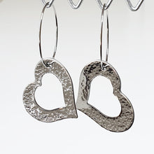 Load image into Gallery viewer, Get Hammered Hole in my Heart earrings (clearance sale)