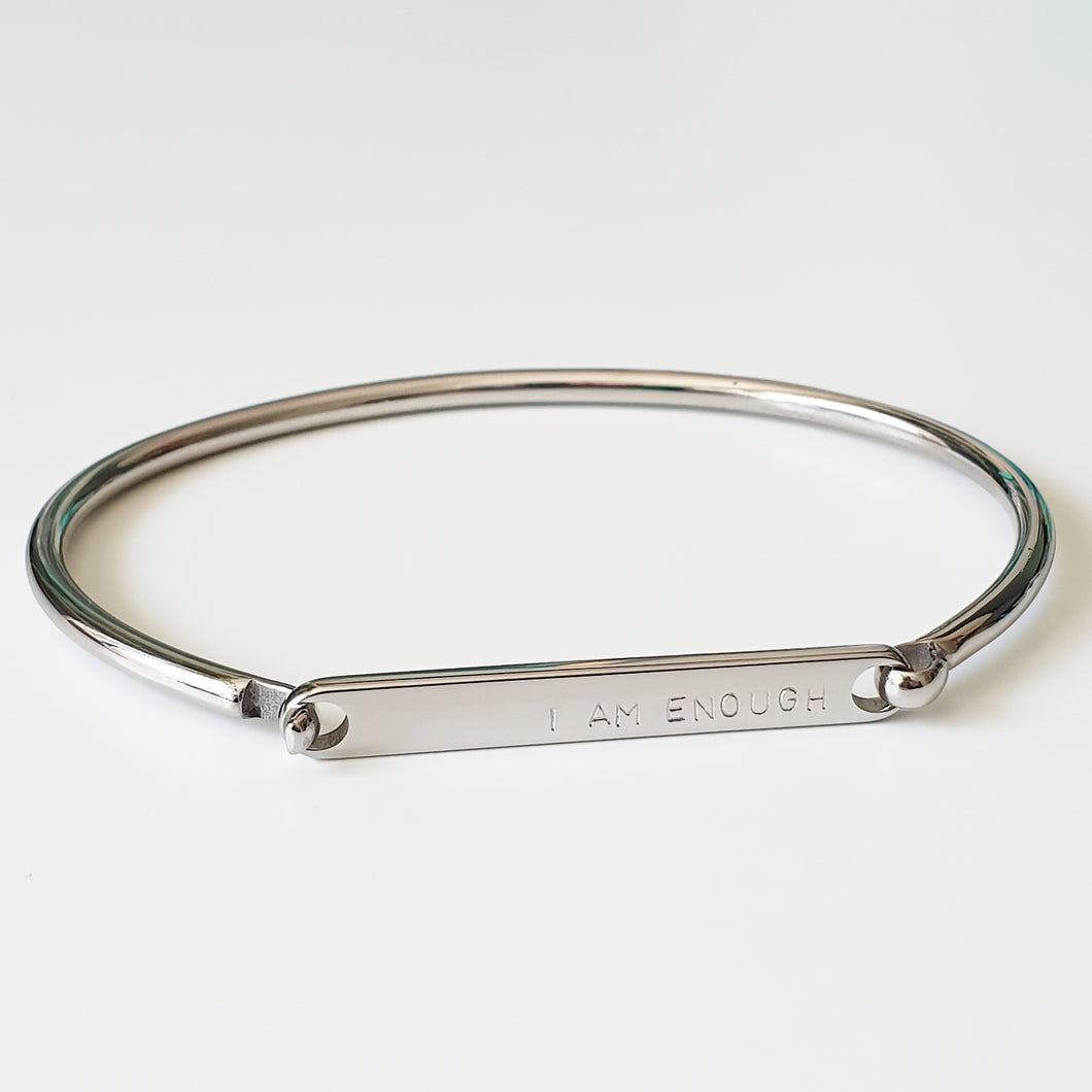 Handstamped ID Bracelet (adult size) | allure style | I am enough
