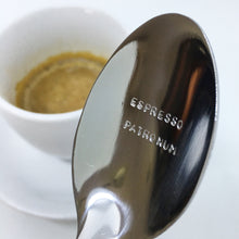 Load image into Gallery viewer, Handstamped Coffee Spoon / Teaspoon | espresso patronum | allure style