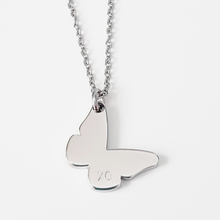 Load image into Gallery viewer, Handstamped Little Butterfly Necklace