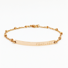 Load image into Gallery viewer, Handstamped Bar Bracelet (adult size) | allure style | fearless