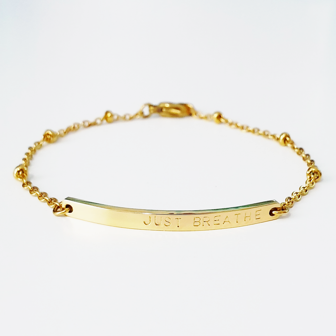 Handstamped Bar Bracelet (clearance sale)