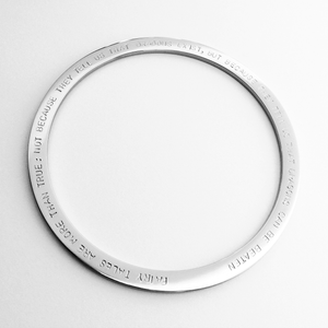 Handstamped Bangle