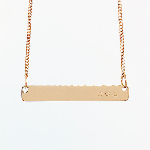 Handstamped Bar Necklace | allure style