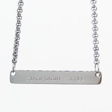 Load image into Gallery viewer, Handstamped Bar Necklace | allure style