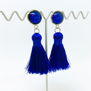 Mini Cobalt Blue tassel earrings | allure style
