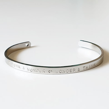 Load image into Gallery viewer, Handstamped Cuff Bracelet (small) | allure style | think and wonder