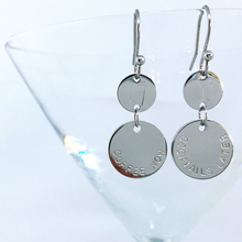 Load image into Gallery viewer, Handstamped Double Drop Earrings - coffee now cocktails later | allure style
