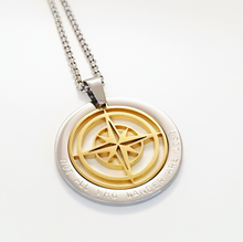 Load image into Gallery viewer, Handstamped Compass Necklace | allure style
