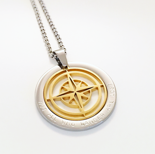 Handstamped Compass Necklace | allure style