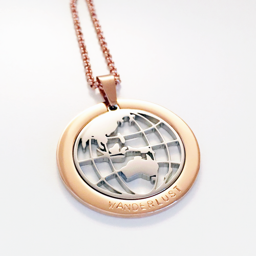 Handstamped Globe Necklace | allure style