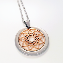 Load image into Gallery viewer, Handstamped Heart Mandala Necklace | allure style