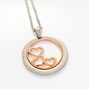 Handstamped Floating Hearts Necklace | allure style