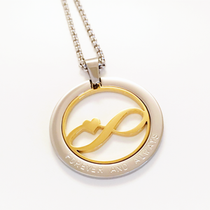 Handstamped Floating Infinity Necklace | allure style