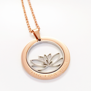 Handstamped Lotus Flower Necklace | allure style