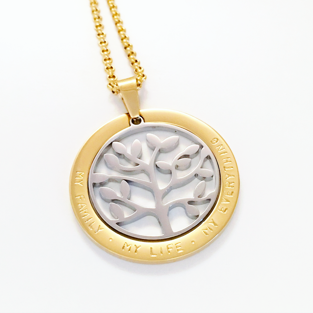 Handstamped Floating Tree Necklace | allure style