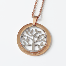 Load image into Gallery viewer, Handstamped Floating Tree Necklace