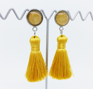 Mini Gold tassel earrings | allure style