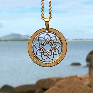 Handstamped heart mandala necklace | allure style