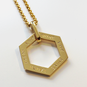 Handstamped Hexagonal Necklace | allure style