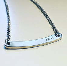 Load image into Gallery viewer, Handstamped curved bar style necklace | allure style
