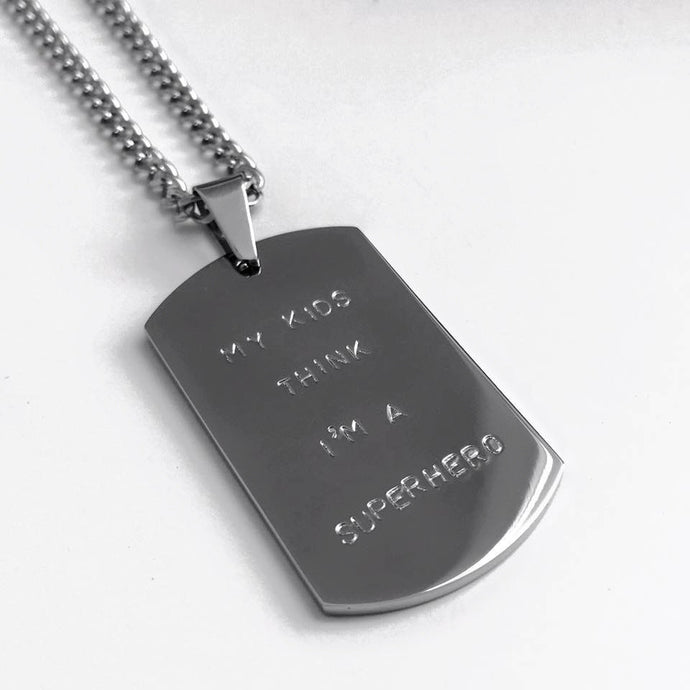 Handstamped dogtag necklace | allure style