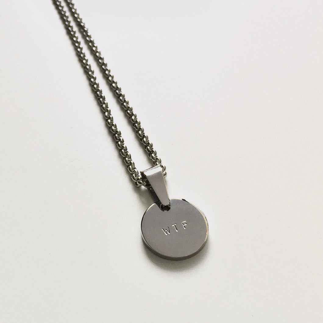 Handstamped XS circle disc necklace | allure style