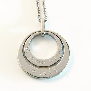Handstamped double stack necklace | allure style
