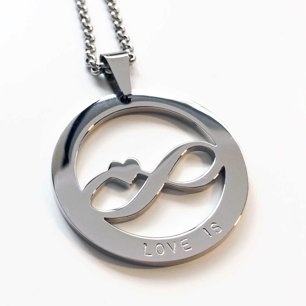 Handstamped Infinity Necklace | allure style